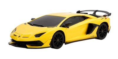 RASTAR 1/24 SCALE RC CAR Lamborghini Aventador SVJ Yellow TX034