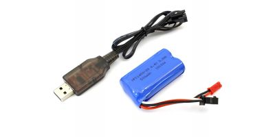 バッテリーUSB充電ケーブル付(リザード) TS010L-01
