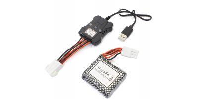 アバドン用 バッテリー&USB充電ケーブルセット TS001A-06